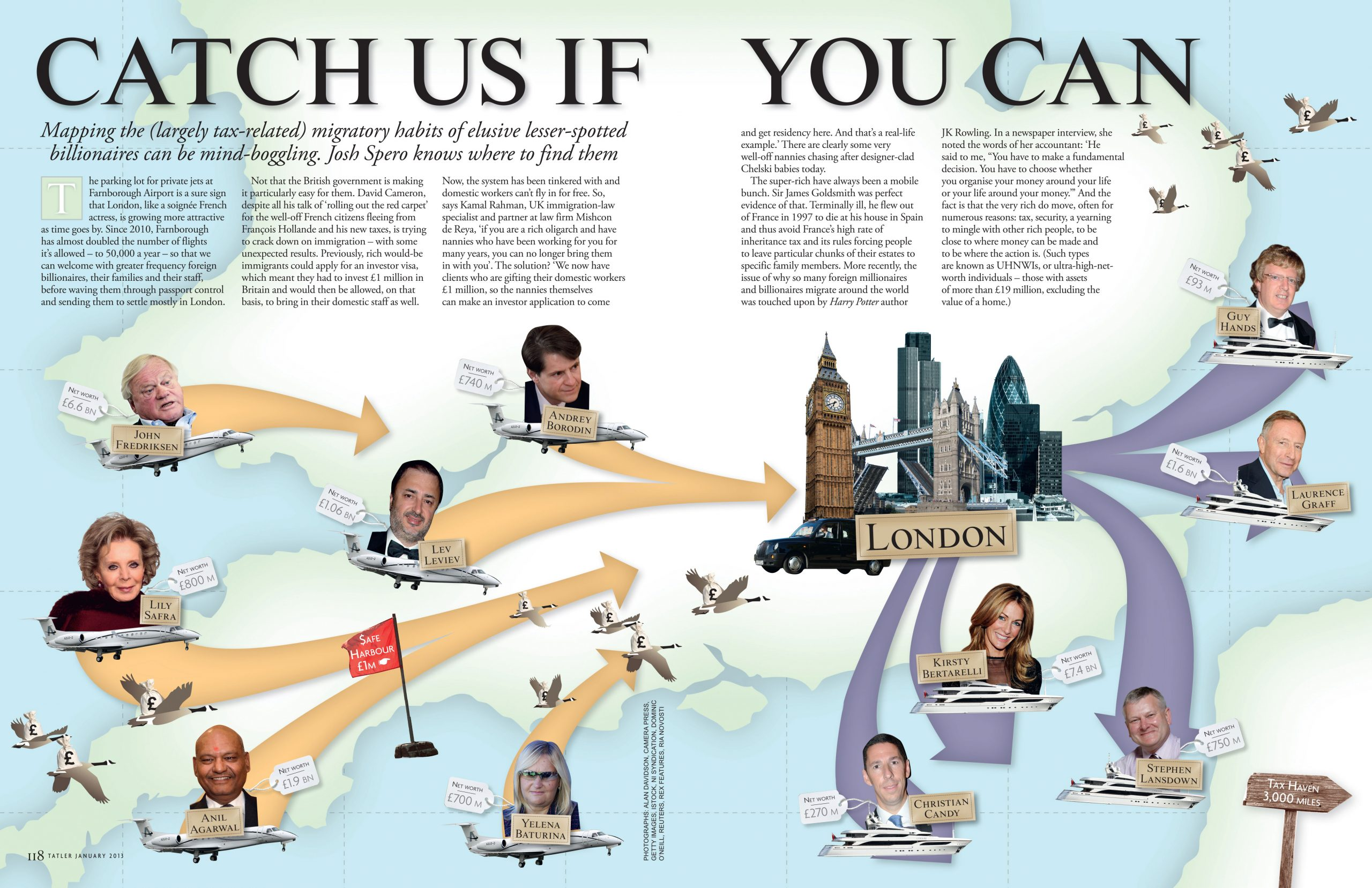 Oneafternoon, Art Direction & Print Tatler magazine illustration layout