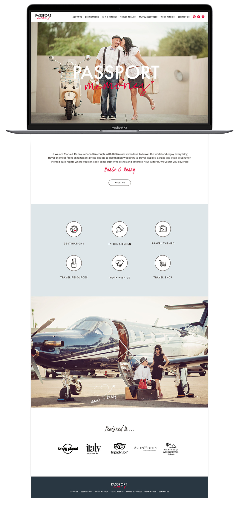 Web Design for passport memories