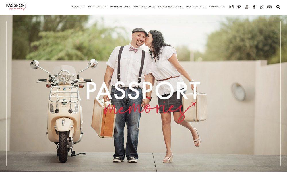 ONEAFTERNOON web design Passport Memories