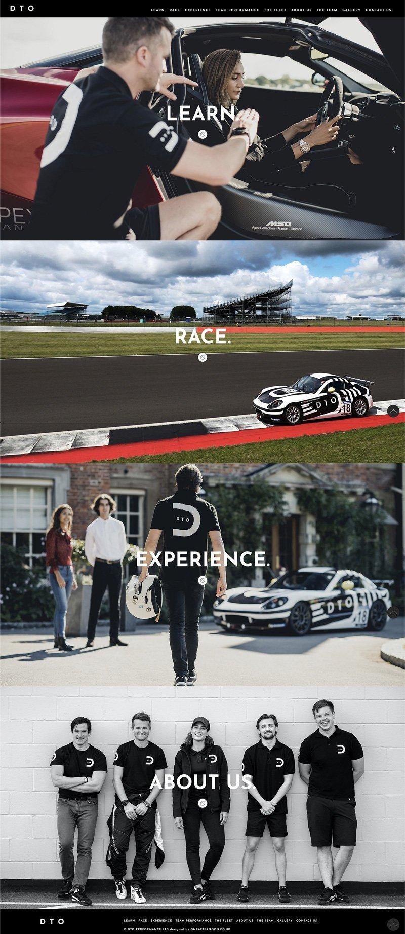 Motorsport UI designer Homepage wireframe